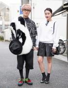 Harajuku Duo in Black & White w/ KTZ, Hyein Seo, United Nude Eamz & Ambush