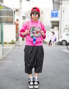 Fun Harajuku Style w/ Randoseru, Panda Flatforms & Giant Whistle Necklace