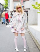 Esbat Pastel Fashion, Knee Highs & American Apparel Shoes in Harajuku