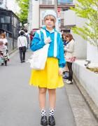 Harajuku Girl Yellow & Blue w/ Yoshida Momoka Tote Bag & Resale Fashion