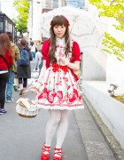 Harajuku Lolita in Berry-Themed Look w/ Angelic Pretty, Innocent World & metamorphose temps de fille