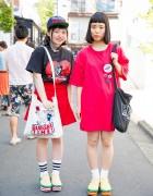 Harajuku Girls in Hamburger Shoes, Aymmy in the Batty Girls & San to Nibun no Ichi