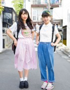 Harajuku Girls in Resale Street Fashion w/ Retro Girl, Bubbles & Nike