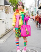 Colorful Harajuku Decora Street Style w/ 6%DOKIDOKI, Daiso & Jams World