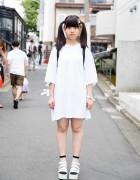Harajuku Girl w/ Twin Tails, Bunny Hair Clip, WEGO & Spinns Fashion