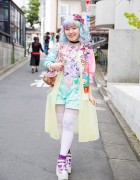 Harajuku Girl's Pastel Hair & Colorful Fashion w/ 6%DOKIDOKI, Milklim, Kinji, Uniqlo & Swimmer