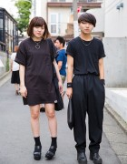 Harajuku Duo in All Black w/ Shonen Junk, Ikumi & Q-Pot