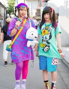 Harajuku Girls in Colorful Fashion w/ Super Lovers, Monomania, WEGO & Grand Ground