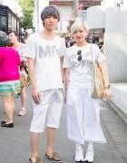 Harajuku Duo in All White w/ Hajime Fantasy, Monomania & Fig&Viper