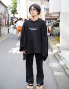 Harajuku Guy in Ganryu Sweatshirt, Y-3 by Yohji Yamamoto & Geta Sandals