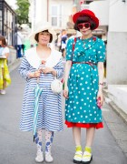 Harajuku Girls in Vintage Styles w/ Hats, Polka Dots & Stripes