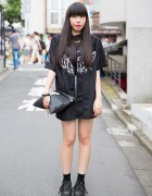Harajuku Girl in UNIF x Candy Fashion & M.Y.O.B. NYC Clutch