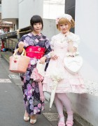 Harajuku Girls in Yukata & Lolita Fashion w/ Baby The Stars Shine Bright & Angelic Pretty