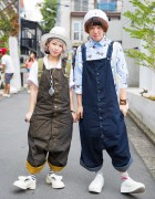 Harajuku Duo in Matching Christopher Nemeth Overalls w/ Tokyo Bopper & Vivienne Westwood