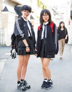 Harajuku School Girls w/ Glasses, Uniforms, Adidas Jacket & Nike Sneakers