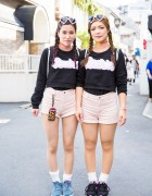 Harajuku Girls in Matching Barbie Fashion w/ WEGO, New Balance & Nike