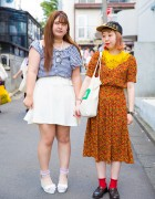 Harajuku Girls in Floral  & Gingham from Grapefruit Moon, San-biki no Koneko & Alice on Wednesday