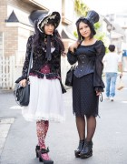 Gothic Harajuku Girls in h.NAOTO, Axes Femme, Alice and the Pirates, K.victoria & PureOne Corset Works
