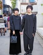 All Black Harajuku Styles w/ Comme des Garcons, Yohji Yamamoto & Prada