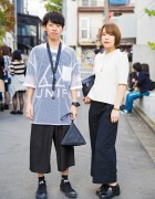 Harajuku Duo in Black & White Fashion w/ M.Y.O.B. NYC, UNIF, Marc by Marc Jacobs & Converse
