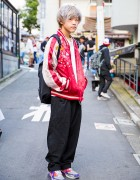 Harajuku Guy in Japanese Souvenir Jacket, Yohji Yamamoto & Never Mind the XU