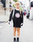 Bubbles Harajuku Sweatshirt, Barbie Nail Art, MCM Bag & Resale Boots