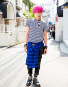 The Symbolic Tokyo Designer w/ Pink Hair, Saint Laurent & Chrome Hearts