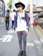 Harajuku Guy in Hat, Acid Wash Jeans, Yosuke Creepers & Never Mind The XU