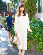 Harajuku Girl in United Arrows Knitwear Loewe Purse & Snidel Wedges