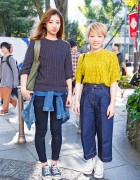 Harajuku Girls in Zara Sweaters, Converse Sneakers & Marc by Marc Jacobs Accessories