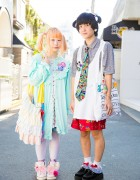 Harajuku Duo in Twin Tails w/ New York Joe Exchange, San-biki no Koneko, Creamy Mami, Ribbons & Bows