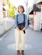 Harajuku Girl w/ Ne-Net Cat Bag, Resale Fashion & Dr. Martens Boots