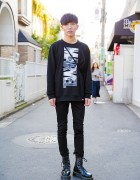 Marvel Comics x Boy London Sweatshirt, Skinny Jeans & Dr. Martens in Harajuku