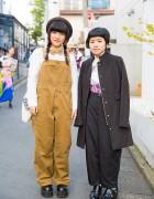 Harajuku Girls in WEGO & Resale Items w/ Overalls, Buckle Shoes & Bunkaya Zakkaten Accessories