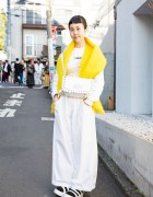 Harajuku Girl in White w/ Comme des Garcons, OTOE & Tokyo Bopper