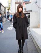 Harajuku Girl in All Black w/ Fig&Viper, Jouetie, M.Y.O.B. & Yosuke