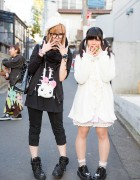 Harajuku Girls w/ Bunny Backpacks in Nile Perch, Amatsukami Tokyo & Swimmer