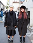 Harajuku Girls in All Black w/ Jouetie, Vivienne Westwood, Chanel, I am I & Dr. Martens