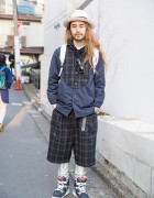 Spinns Harajuku Director in Plaid Kidill Fashion, Stussy, Sailors & Flud