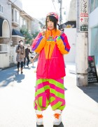 Harajuku Girl in Colorful Fashion w/ Spinns, Kinji, Yoshida Biizu & Grawzulz