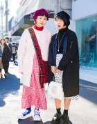 Harajuku Girls in Berets w/ Comme des Garcons, AHCAHCUM.muchacha, Vivienne Westwood  & San to Nibun no Ichi