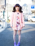 Harajuku Girl in Pastel Fashion by Milk, One Spo, Candy Stripper & Reebok