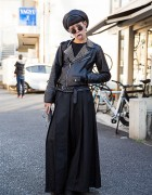 All Black Harajuku Style w/ Biker Jacket, Never Mind the XU & UNIF Boots