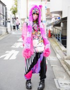 Harajuku Decora Girl in Colorful Street Style w/ Super Lovers & Project C.K.