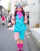 Harajuku Decora in Funky Fruit Fashion w/ Mario Bros Rings & WEGO Platform Sandals