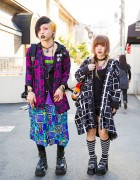 Dark Harajuku Styles w/ Body Piercings, Barokue Brain Rings & Demonia Boots