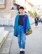 Harajuku Girl in Resale Street Style From Kinsella Harajuku & Oog Sapporo