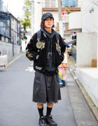 Harajuku Guy in Dragon Sukajan, TTT_MSW Hoodie, Hiro Pants & Nike Sneakers