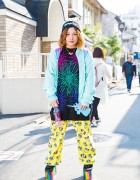 Sponge Bob Fashion & Unicorn Backpack w/ Panama Boy, Spiral Toy, Kinji Harajuku & YRU