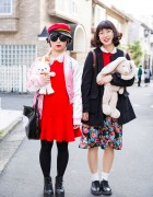 Harajuku Girl w/ Stuffed Animals Wearing Spinns, WEGO, ABC Mart, Uniqlo & E-Hyphen World Gallery
